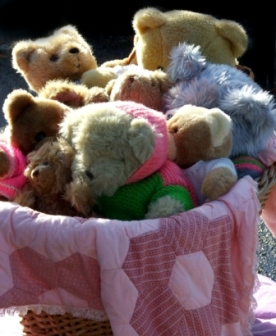 Reduce, Reuse, Recycle: Teddy Bears at a Local Yard Sale