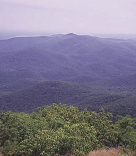 Beautiful view of the hills of North Georgia