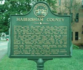 Historical Marker at Habersham County Courthouse