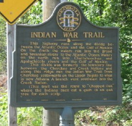 Indian Trail Historical Marker