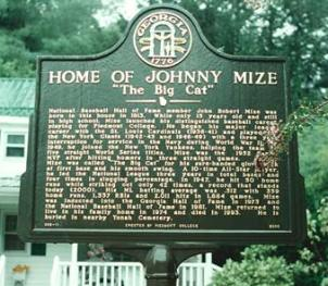 Historical Marker Recognizing Baseball Great Johnny Mize